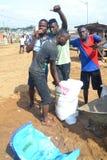操作干净的村庄 免版税库存图片