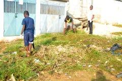 操作干净的村庄 免版税库存照片