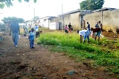 操作干净的村庄 图库摄影
