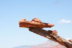 操作平衡的麸皮砖烘干了被堆积的红&# 图库摄影