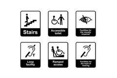 操作残疾歧视符号 图库摄影