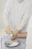 从操作的清洗的伤痕 缝皮肤在操作以后 免版税库存图片
