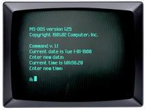 操作系统IBM的个人计算机 免版税库存图片