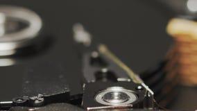 操作计算机硬盘驱动器或硬盘驱动器,慢动作宏指令 E 股票录像
