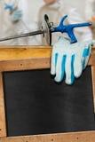 操刀的体育空的黑板 免版税库存照片