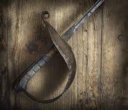 操刀的剑 库存照片