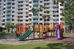 操场在新加坡邻里 图库摄影