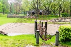 操场宽敞的自然公园 免版税库存图片