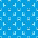 操场模拟器样式无缝的蓝色 免版税图库摄影