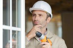 操练墙壁的建造者 免版税库存照片