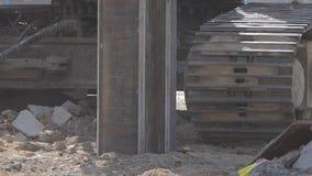 操练机械钻土地,建造场所 股票视频