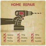 操练现有量 家庭修理概念 免版税图库摄影