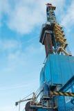 操练的凿岩机为油和煤气 免版税库存照片