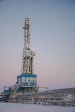 操练的凿岩机为油和煤气 库存图片