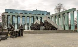擦亮战斗机起义的纪念碑 免版税库存照片