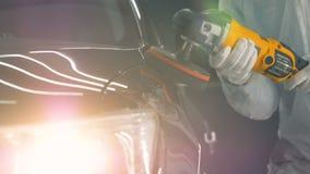 擦亮汽车的过程,接近  影视素材