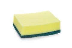 擦净剂,洗涤剂,家庭清洗的iso清洁海绵 免版税库存照片