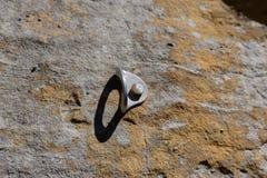 攀岩螺栓船锚在砂岩面孔红河峡谷肯塔基 库存图片