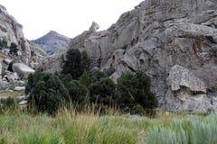 攀岩运动员,爱达荷城市 库存照片