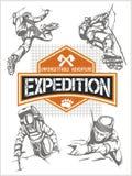 攀岩远征 被设置的传染媒介-远征 皇族释放例证