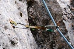 攀岩齿轮 免版税图库摄影