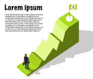 攀登一张成功的企业图表 向量例证