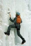 攀登北高加索的冰 库存图片