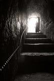 攀登对出口的台阶 库存照片