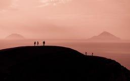 攀登山 免版税库存照片
