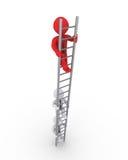 攀登梯子竞争的商人 免版税库存照片