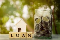 攒钱,房屋贷款,抵押,未来概念的物产投资 图库摄影