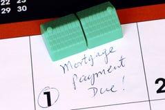 支付时间的房屋抵押贷款 免版税库存照片