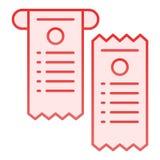 支付检查平的象 钞票在时髦平的样式的桃红色象 纸检查梯度样式设计,设计为网和应用程序 库存例证