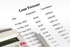 支付的计划的预测贷款 库存照片