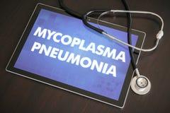 支原体医疗肺炎(传染病)的诊断 库存图片