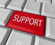 支持字计算机钥匙键盘顾客询问台 免版税库存图片