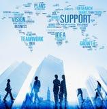 支持想法计划视觉Buiness成长全球性概念 免版税库存图片