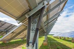 支持的跟踪系统的头等震动在植物太阳能电池 库存图片