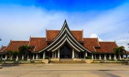 支持艺术和泰国的工艺国际中心 免版税库存图片