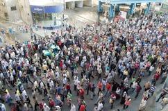 支持被驱逐的总统Morsi的巨大的demostrations 免版税库存图片
