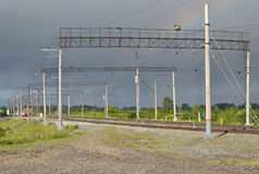 支持铁路运输联络网络  库存图片