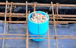 支持水泥膏药的管子 库存图片