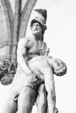 支持Patroclus的身体Menelaus雕塑 免版税库存照片
