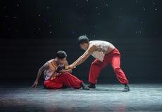 支持sb这兄弟现代舞蹈 图库摄影