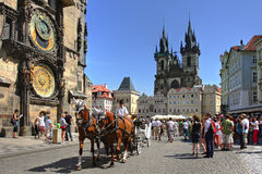 支架捷克布拉格共和国游人 图库摄影