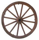 支架查出的葡萄酒轮子 免版税库存照片