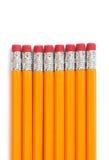 2支编号铅笔 库存照片