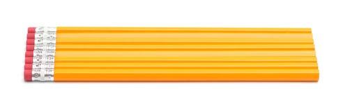 2支编号铅笔 免版税库存图片