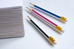 3支铅笔 库存图片