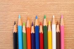 3支颜色铅笔 库存照片